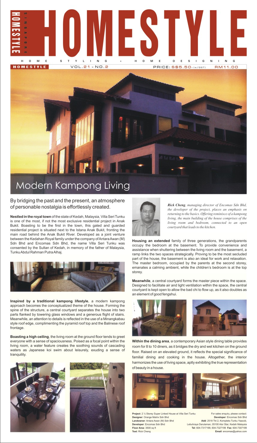 modern kampong living home style magazine encomas. Black Bedroom Furniture Sets. Home Design Ideas