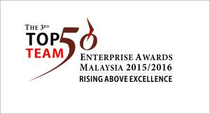 The 3rd Top 50 Team, Enterprise Awards Malaysia 2015/2016, Rising Above Excellence