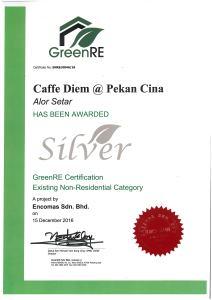 GreenRE, Caffe Diem, encomas,