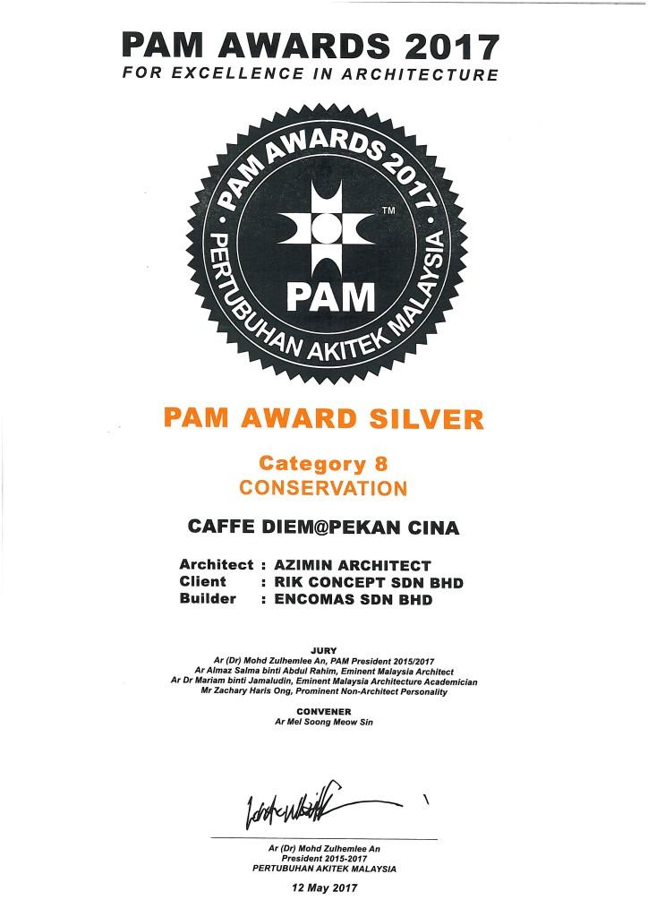 PAM Award 2017, Caffe Diem