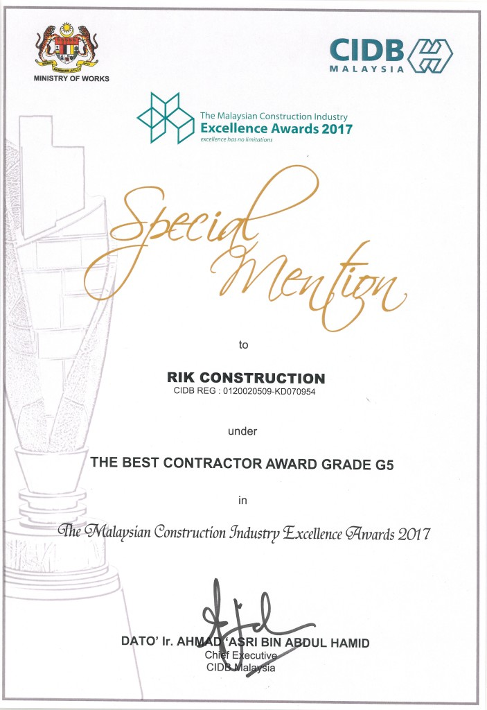 The best contractor award